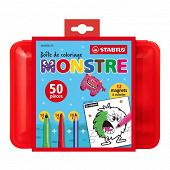 Stabilo boîte de coloriage monstre 50 pièces