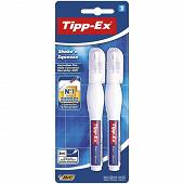 Bic stylos correcteur tipp-ex shake n'squeeze 8 ml pointe fine