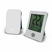 Otio thermo hygro interieur exterieur avec capteur sans fil blanc