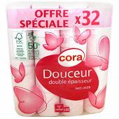 Cora papier toilette rose 2 plis 32 rouleaux