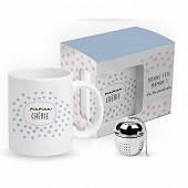 Mug droit 33cl + boule à thé inox