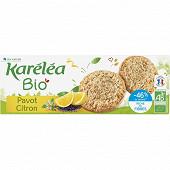 Karelea sablé pavot citron réduit en sucres bio 150g