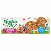 Karéléa sablés céréales figues réduit en sucres bio étui + sachet 150g