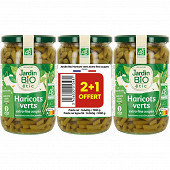 Jardin bio haricots verts extra fins bio 660g x3 lot de 3 bocaux
