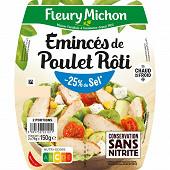 Fleury Michon émincés de poulet grillé - 25% de sel  2 x 75g