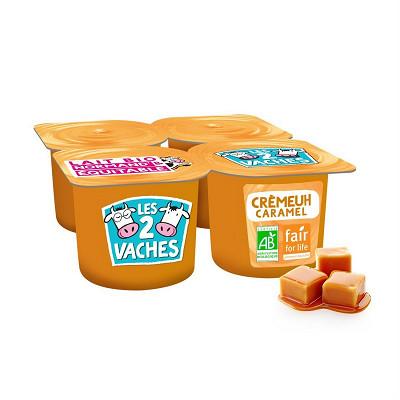 Les 2 vaches Les 2 Vaches crème dessert au caramel 4x95g
