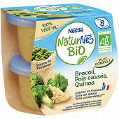 Nestlé naturnes bio végétal brocolis pois cassé quinoa dès 8 mois 2x190g
