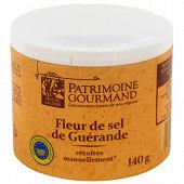 Patrimoine gourmand fleur de sel de Guérande boîte de 140g