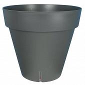 Riviera loft rond 25 cm gris avec réserve d'eau