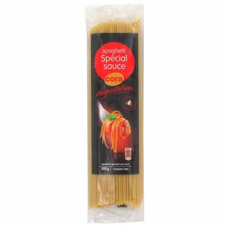 Cora dégustation spaghetti spécial sauce 500g