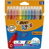 Bic kids kid 12 feutres couleur étui carton encre lavable