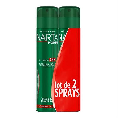 Narta Narta homme déodorant atomiseur fraîcheur classique l2x200ml - reno 201