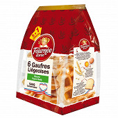 La fournée dorée gaufres liégeois beurre et sucre perle x6 (5+1) 330g