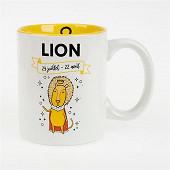 Mug gres 32cl horoscope lion