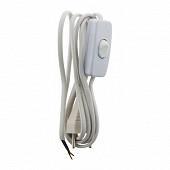 Prodelect cordon alimentation 2.5a 2x0.75mm + interrupteur blanc