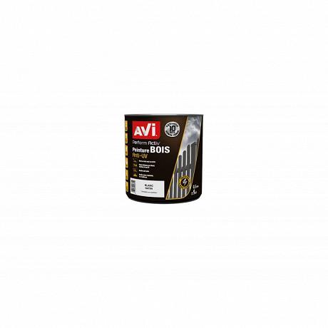 Avi peinture pour le bois Perform activ bois blanc satin 0.5 l