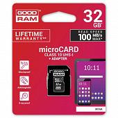 Goodram Carte Micro sdhc 32 gb CL 10 UHS1 + adaptateur