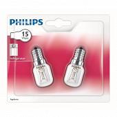 Philips 2 ampoules incandescentes pour réfrigérateur tube E14 - 15W