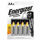 Energizer 4 piles alcalines AA (LR6) alkline power