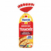 Harrys brioche tranchée aux pépites de chocolat sans additifs 485g