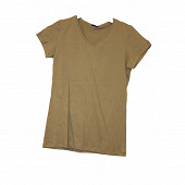 Tee shirt manches courtes femme KAKI COL V T50\52