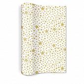 Chemin de table Starlets white/gold 25x400cm