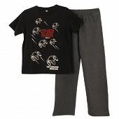 Pyjama long jersey manches longues garçon ROUGE 12ANS
