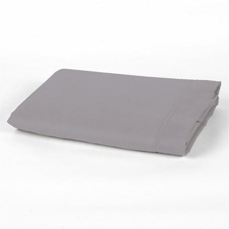 Drap plat 240x290 uni gris polycoton
