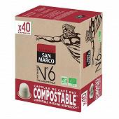 San marco capsules n°6 bio compost x40 204g