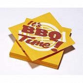 Serviettes x20 it's BBQ time mandarine 33x33cm 3plis