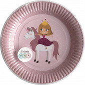 Assiettes x6 princesse licorne 23cm