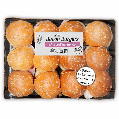 Paso plateau 12 mini bacon burgers 540g