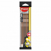 Maped 6 crayons graphite bout gomme hb