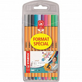 10 feutres d'écriture point 88 ''format spécial'' - coloris pastel