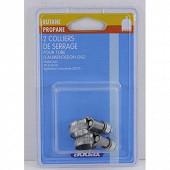 Addax 2 colliers de serrage butane/propane