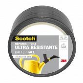 Scotch réparer toile ultra résistante noire 15m x 48mm