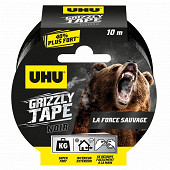 Uhu adhésif grizzly x10 10m noir
