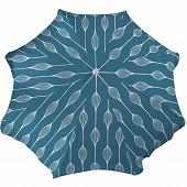 Anjosa parasol 240/8/22/25 polycoton mat inclinable aluminium elunia bleu