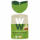 WW pain de mie sans croûte céréales 330g