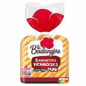 La Boulangère 6 mini baguettes viennoises 330g
