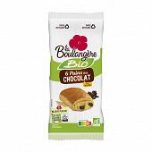La Boulangère 6 pains au chocolat bio 270 g