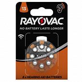 Rayovac piles auditives acoustic v13 x8