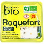 Nature bio roquefort AOP au lait cru de brebis issu de l'agriculture biologique 100g