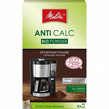 Melitta détartrant Anti Calc Bio Powder pour cafetières filtres poudre 6X20g