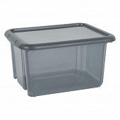 Funny box avec couvercle gris acidulé 30l
