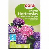 Cora engrais hortensias et plantes de bruyère 1kg
