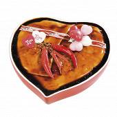 Terrine au piment d'espelette terrine coeur rouge