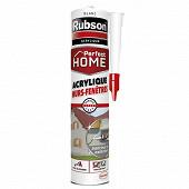 Rubson mastic perfect home acrylique murs et fenêtres blanc cartouche 280 ml