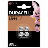 Duracell 4 piles pour appareil électronique lr44