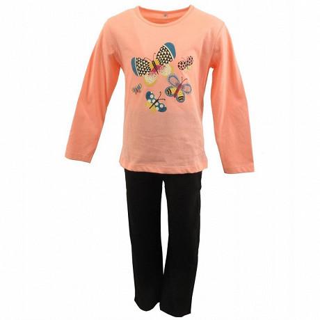 Pyjama long manches longues ROSE 6ANS